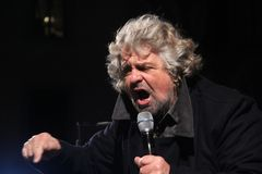 Stjärnor för Beppe Grillo rörelse fem Royaltyfria Bilder