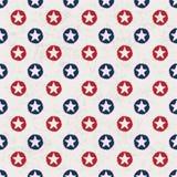 stjärnor för polka för prickmodell seamless Arkivfoto