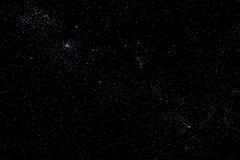 Stjärnor och stjärnklar bakgrund för galaxutrymmehimmel Arkivfoto