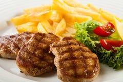 stków piec na grillu warzywa Zdjęcie Stock