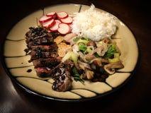 Stku i dłoniaka warzywa z ryż zdjęcia stock