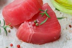 stku rybi surowy tuńczyk Zdjęcia Royalty Free