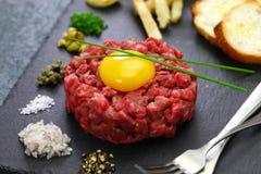 Stku tartare, winnika stek zdjęcie royalty free