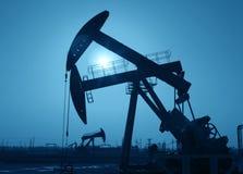 Stålar för olje- pump Arkivfoto