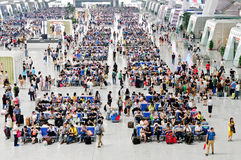 Östlig station för Hangzhou järnvägsstation Royaltyfria Bilder