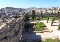 Östlig vägg av den Umayyad slotten, Israel Royaltyfri Fotografi