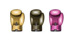 Ställ in boxninghandskar också vektor för coreldrawillustration 10 eps Arkivbilder