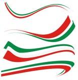 Ställ in den italienska flaggan Royaltyfri Foto