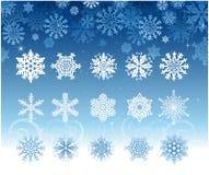 ställ in snowflaken Arkivfoton