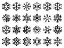 ställ in snowflakes Arkivfoto
