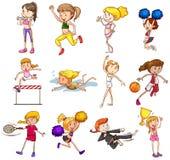 ställ in sportar Fotografering för Bildbyråer