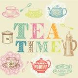 ställ in tea Royaltyfri Bild