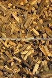 ställ in texturer wood Arkivfoto
