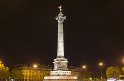 Ställe de la Bastille, Paris Arkivbilder