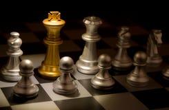 Ställning ut ur ett folkmassaegenartbegrepp Odd Chess Royaltyfri Bild