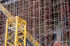 Ställningstruktur på konstruktionsplatsen Royaltyfria Bilder