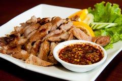 Stly carne de porco tailandesa da grade do BBQ imagens de stock royalty free