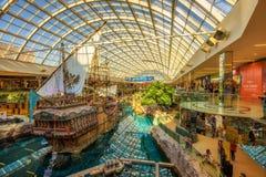 StMaria-Piratenschiff im West-Edmonton-Mall stockfotos