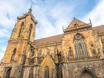 StMartin教会在科尔马,法国 免版税库存图片