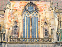 StMartin教会在科尔马,法国 免版税图库摄影