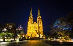 Stmary catherdral van Sydney Stock Fotografie
