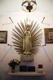 StMary ` s postać, kościół w Zagreb, Chorwacja Obraz Royalty Free