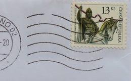 Stämpel av Tjeckien Royaltyfri Bild