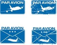 stämpel för par för avion 03 rubber Arkivfoto