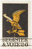 stämpeln för 1968 register till tappning röstar Arkivfoton
