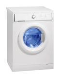 stäng maskinen som skjutas upp tvätt Royaltyfri Bild