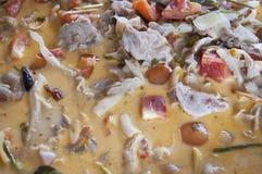 Stäng sig upp kryddig soupbakgrund Royaltyfria Bilder