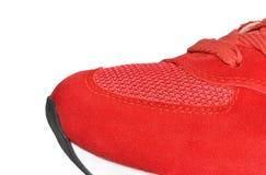 Stäng sig upp texturgymnastikskor av den rinnande skon eller gymnastikskon Royaltyfria Foton