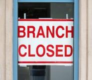 Stängd filial Fotografering för Bildbyråer