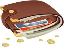 stängd plånbok Arkivfoton
