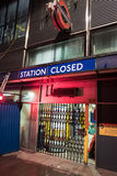 Stängd station Royaltyfri Fotografi