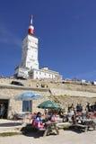 Stångrestaurang upptill av Mont Ventoux Royaltyfri Foto