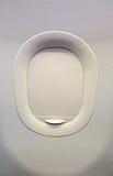 Stängt flygplanfönster Royaltyfri Fotografi