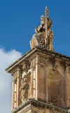 StNicholas kyrka, Siggiewi, Malta Royaltyfria Bilder