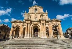 StNicholas kyrka, Siggiewi, Malta Royaltyfri Fotografi