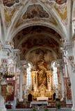 StNicolaus kyrka i Meran, Italien Fotografering för Bildbyråer