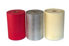 Stoßsicheres Schaum-Polyäthylen-materielle multi Farbe Rolls Lizenzfreies Stockbild