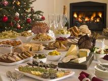 stołówki pewien boże narodzenie obiad drzewo Obraz Stock