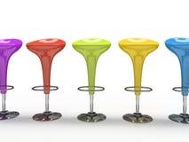 stołówki tła czarnego krzesła kolorowe pojedynczy eleganckie Obraz Stock