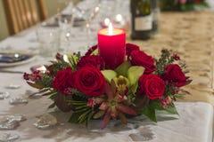 Stołowa dekoraci świeczka Fotografia Stock