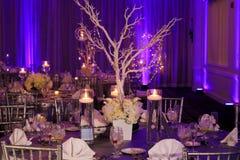 Stołowa dekoracja dla zima ślubu zdjęcie royalty free