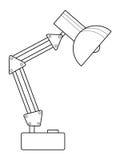 Stołowa lampa Fotografia Royalty Free