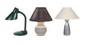 Stołowe lampy ustawiać Fotografia Stock