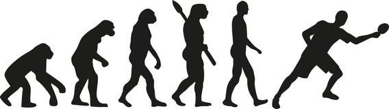 Stołowego tenisa ewolucja ilustracja wektor