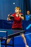 Stołowego tenisa rywalizacja wśród dziewczyn Obrazy Royalty Free