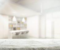 Stołowego wierzchołka I plamy biura tło Obrazy Stock